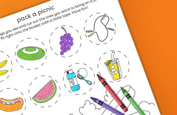 pack a picnic free printable for kids