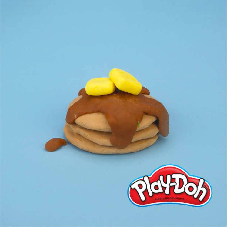 completed PlayDoh pretend pancakes