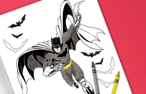 Batman coloring sheet free printable for kids