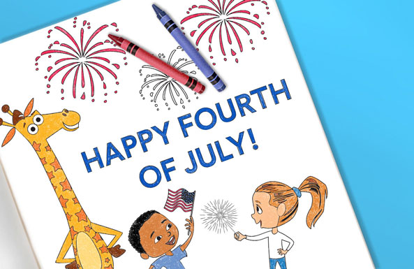 Fourth of July coloring sheet free printable for kids