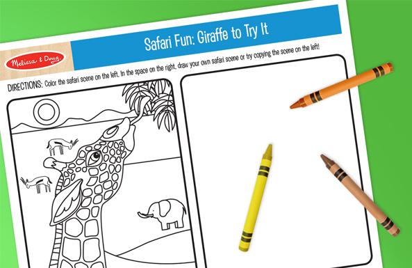 Melissa & Doug safari fun free printable for kids