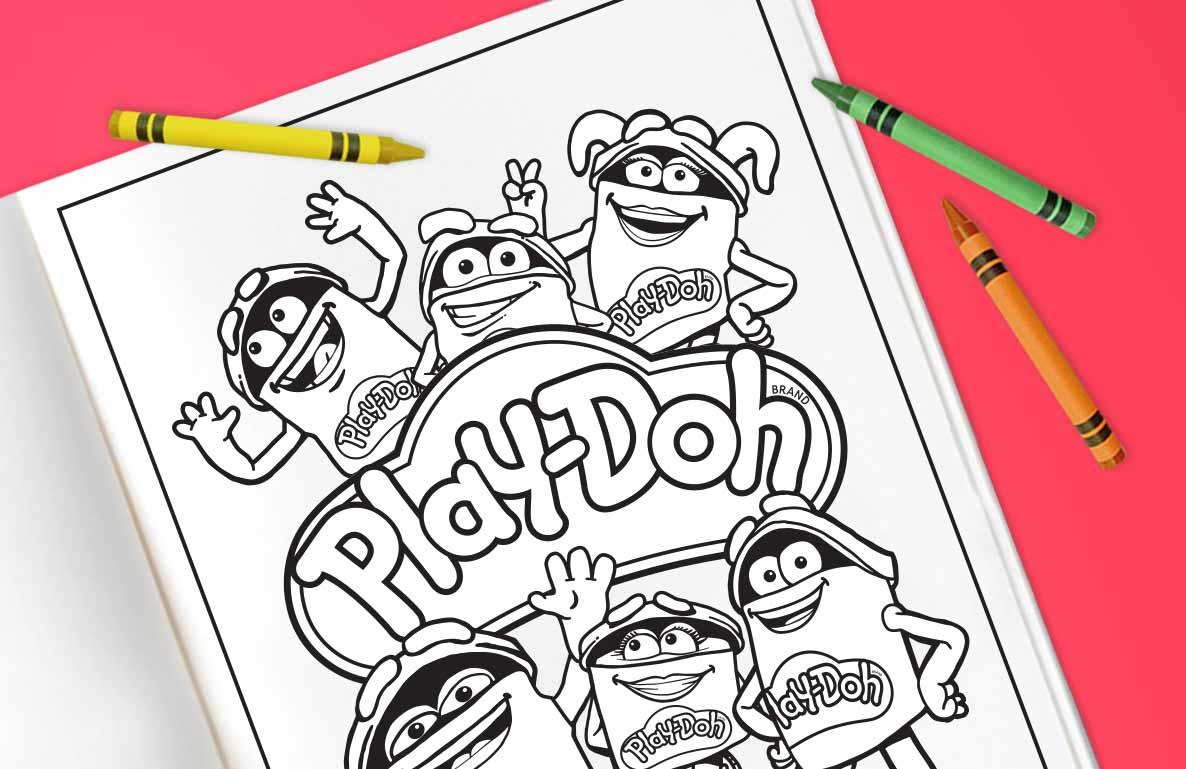 Play-Doh coloring pages