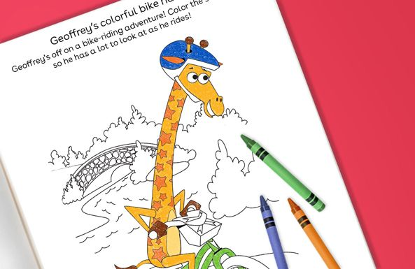 Geoffrey's colorful bike ride