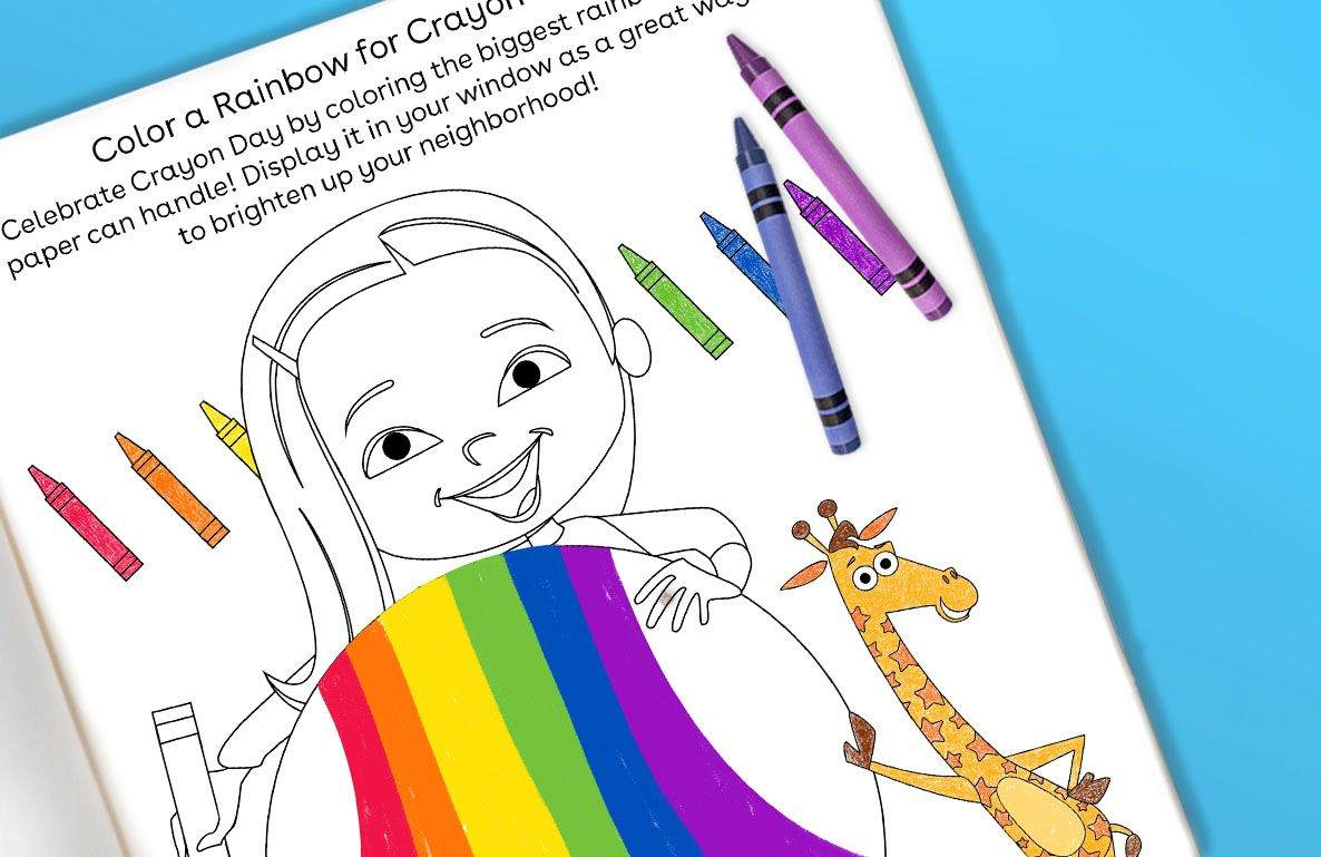 Color a Rainbow for Crayon Day