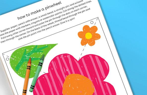 make a pinwheel free printable for kids