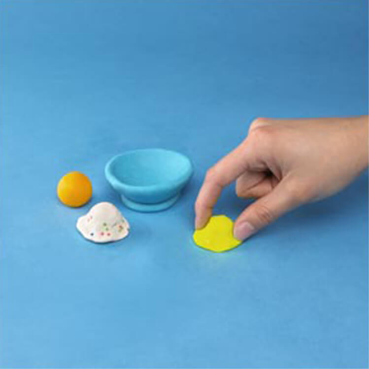 how to make a pretend ice cream sundae with PlayDoh dough compound step two