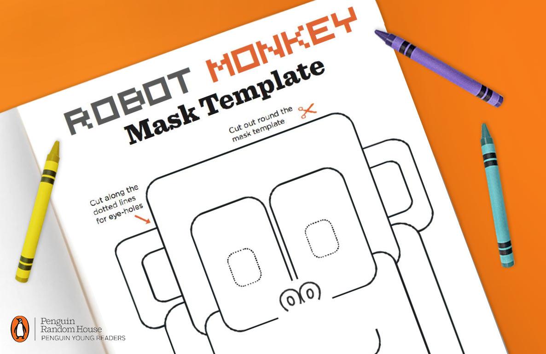 Penguin robot monkey mask