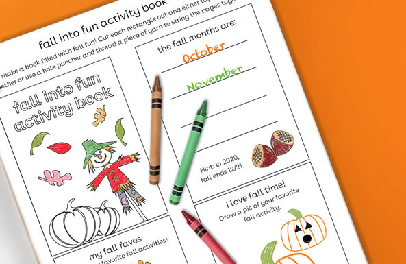 fall into fun activity book free printable activity for kids