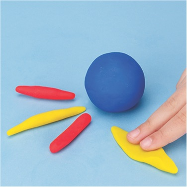 how to make a beach ball with PlayDoh dough compound step one