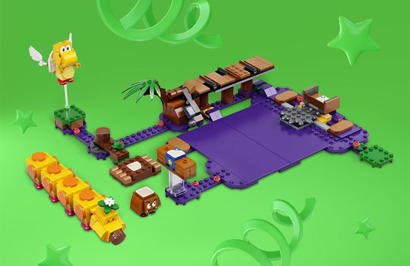 LEGO Super Mario Wiggler's Poison Swamp Expansion Set