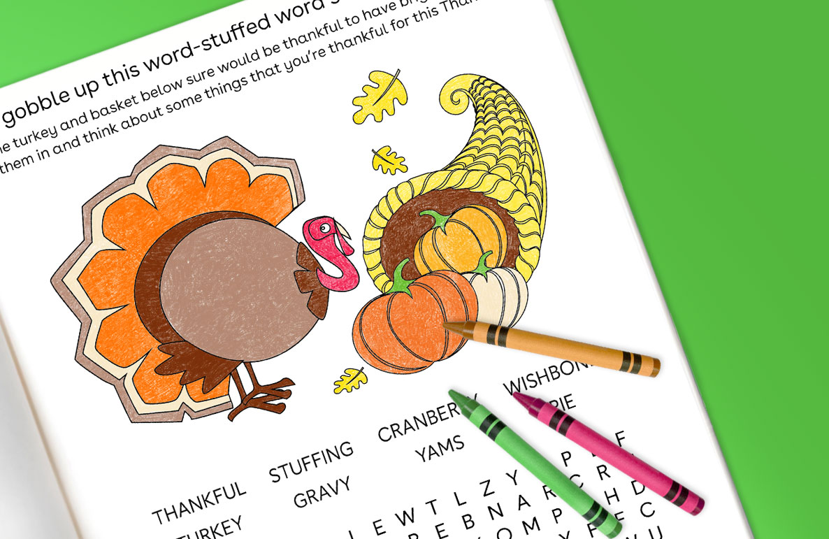 gobble up this word-stuffed word search puzzle