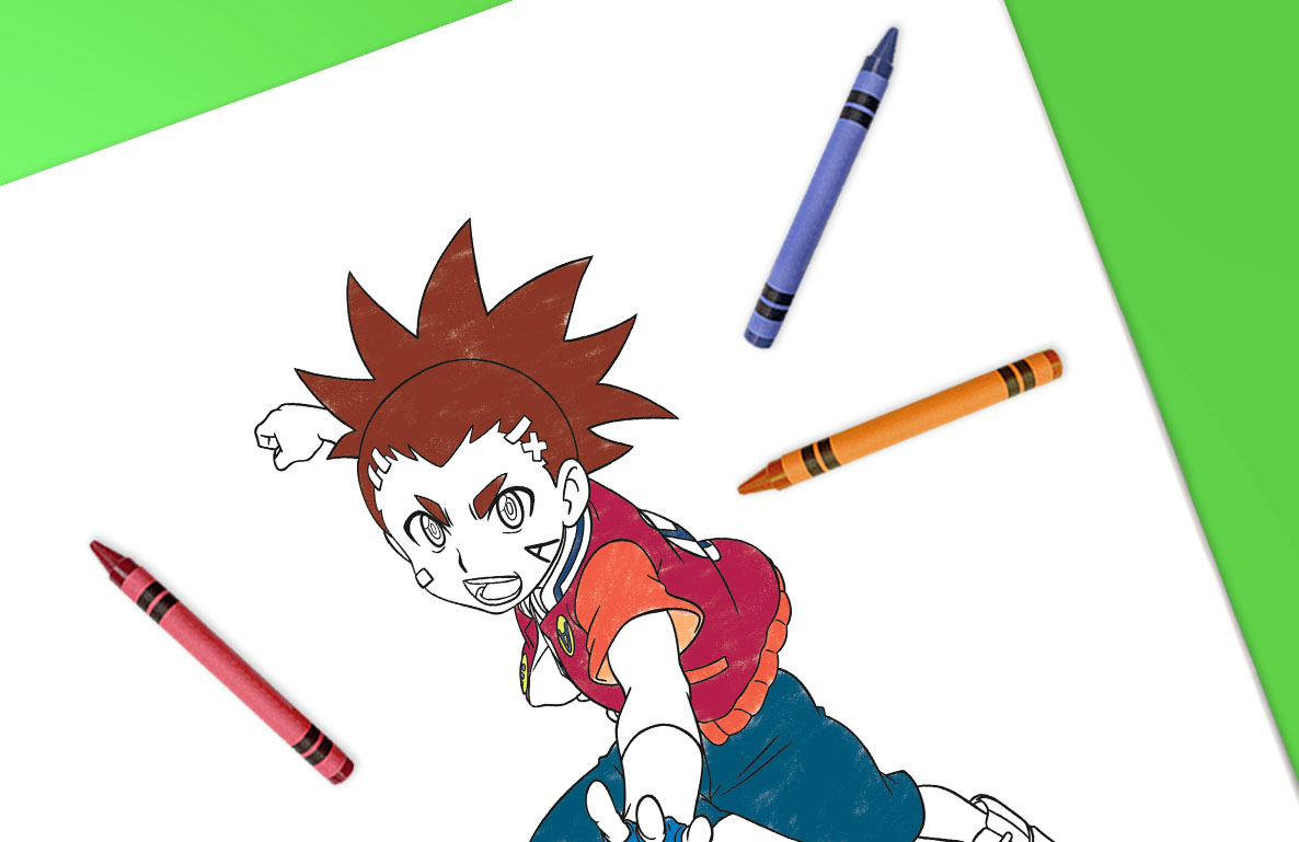 Beyblade coloring sheets