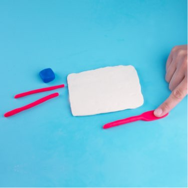 Play-Doh how-to make an American Flag step two