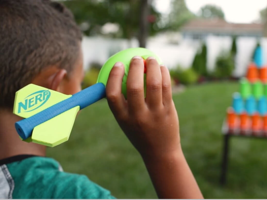 NERF obstacle course DIY for kids