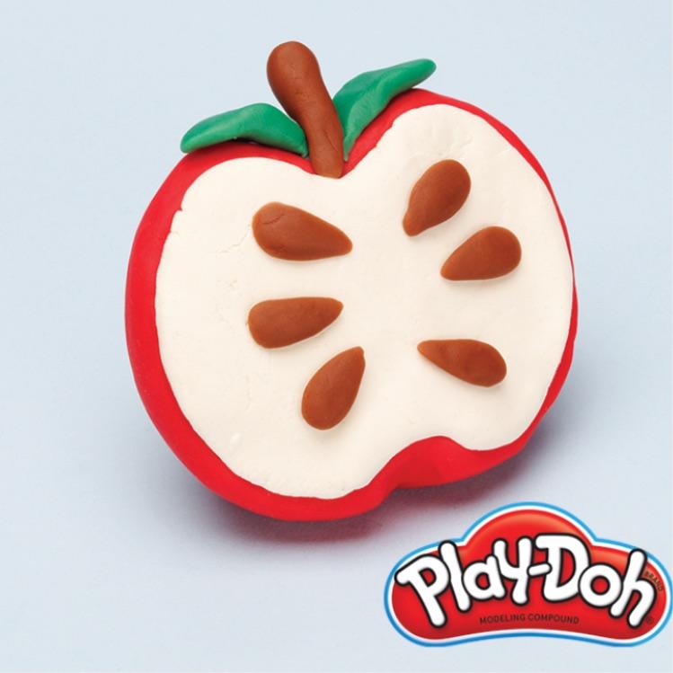PlayDoh pretend apple