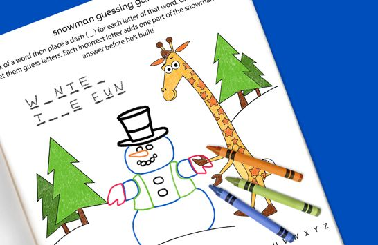 snowman guessing game