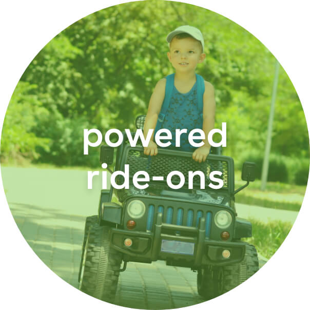 powered ride-ons, power wheels and riding toys