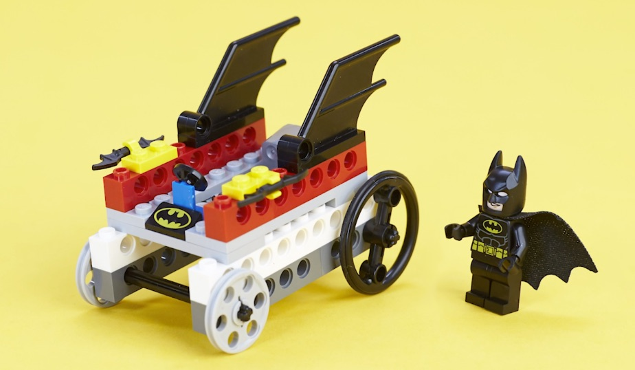 LEGO minifigure base with cord