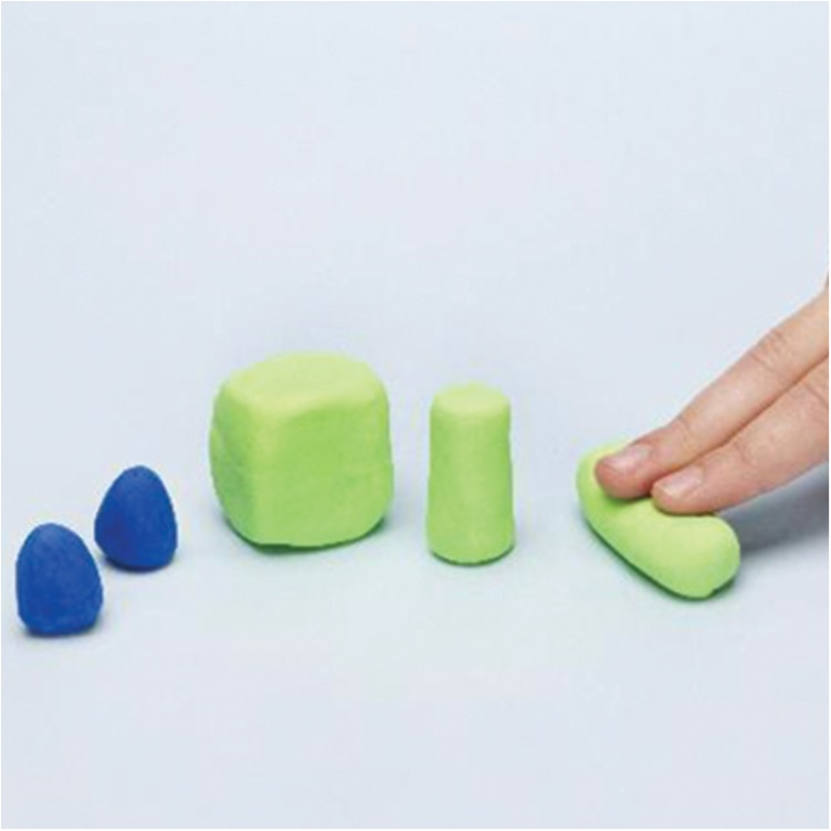 how to make a castle with PlayDoh dough compound step one