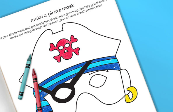 'make a pirate mask printable for kids