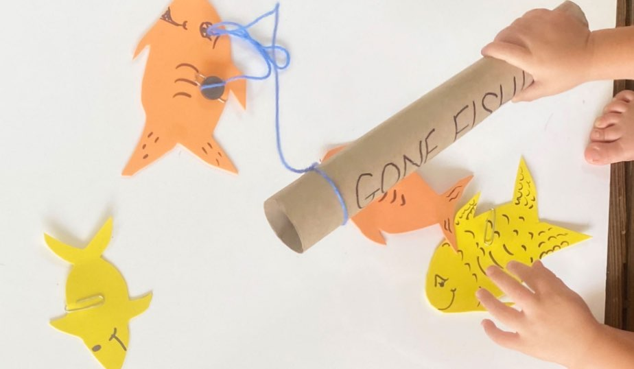 play the gone fishing game diy activity for kids