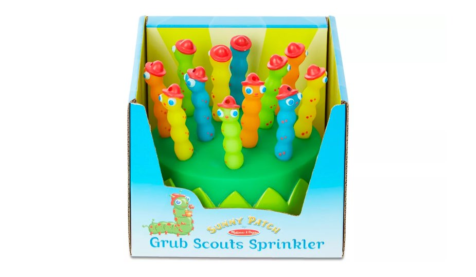 Melissa & Doug Sunny Patch Splash Patrol Sprinkler packaged in the box