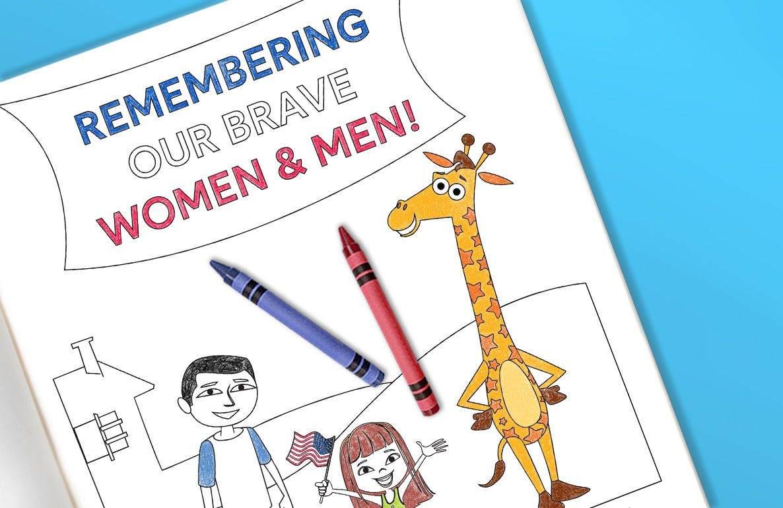 Memorial Day coloring sheet