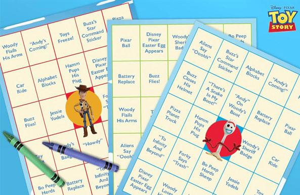 Toy Story movie night bingo free printable for kids