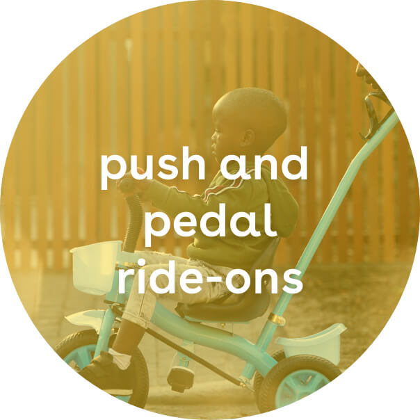 push and pedal ride-ons