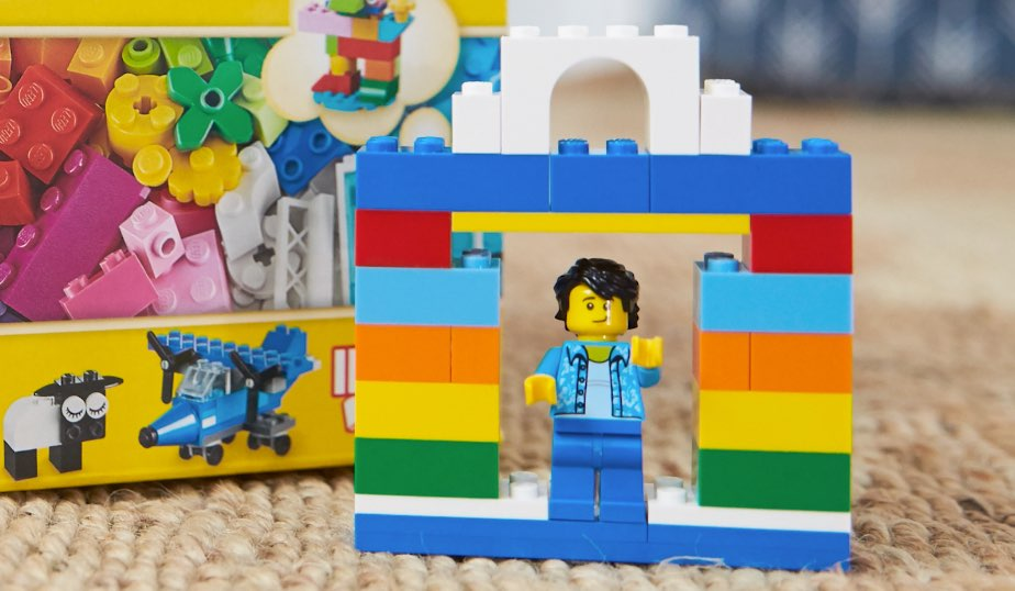 LEGO minifigure base with opening at top