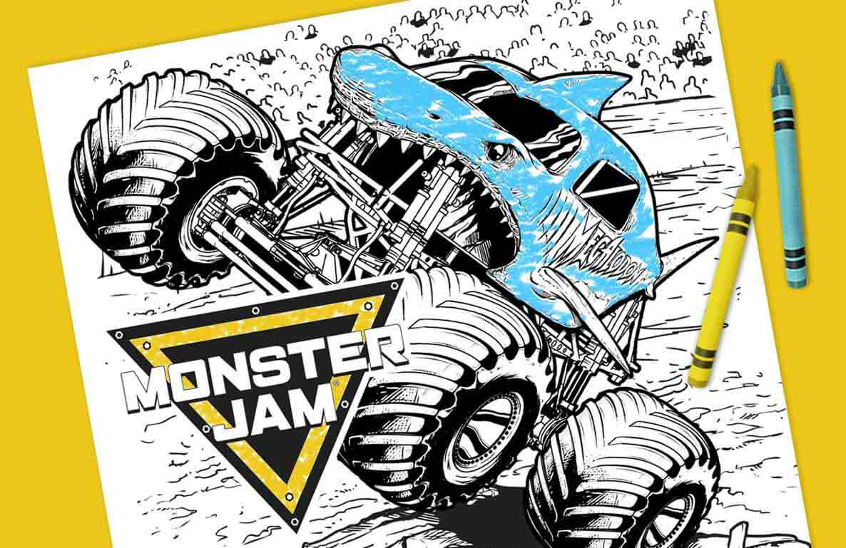 Monster Jam coloring sheets