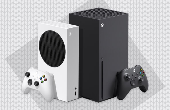 Xbox Series X console and video games