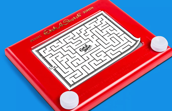 Etch-a-Sketch overlays free printable for kids
