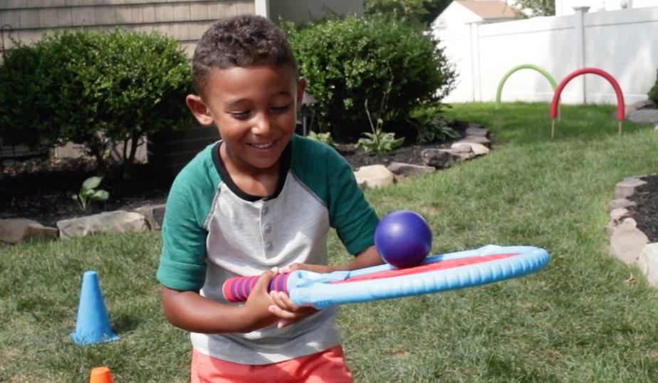 balance ball on a raquet