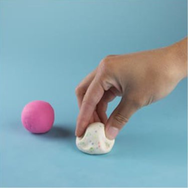 Play-Doh how-to make an ice cream cone step one