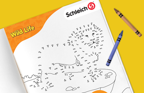 Schleich connect the dots free printable for kids