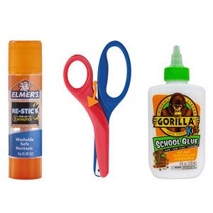 glue, tape & scissors image
